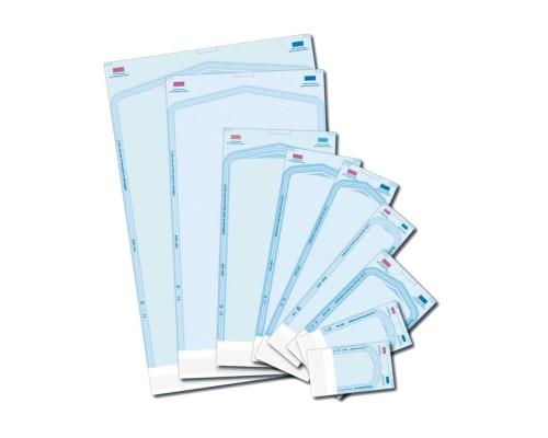 Пакеты бумажно-целлюлозные для стерилизации 2 индикатора (50х123х27 мм)