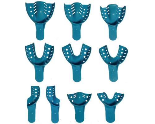 Одноразовые оттискные ложки с фиксатором по краю №1,2,3,4,5,6,7,8,9,10 Асорти